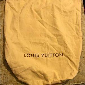 LOUIS VUITTON Large Dust Bag with drawstring